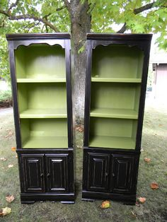 I've been looking for a used console, bookcase or hutch to transform into something fabulous! I love what's been done to these!