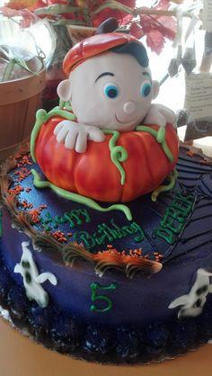 """""""Pumpkin"""" Birthday Cake Bittersweet Bake Shoppe Tyngsboro, Massachusetts"""