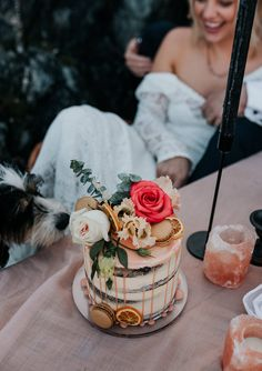 A Relaxed, Boho Beach Elopement in Anglesey, North Wales Cupcake Torte, Cupcakes, Creative Wedding Cakes, Beach Elopement, Pleasing Everyone, Anglesey, Elopement Inspiration, North Wales, Bridal Shoot