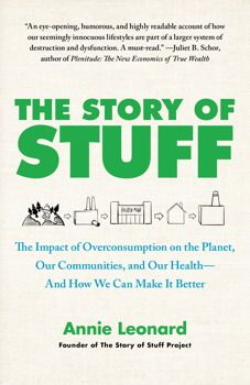 The Story of Stuff - Annie Leonard who tells The Story of Stuff via video, goes in to much more detail with her book The Story of Stuff.
