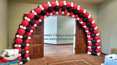 Made for a Casino Night event, this Link-O-Loon arch was the perfect entrance. Thanks to Eddie Heyland for the design.  www.sammyjballoons.com