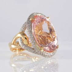 Huge-Morganite-and-Pave-Diamond-Cocktail-Ring-in-18K-Rose-Gold