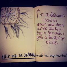 sleep with journal. Journal 3, Wreck This Journal, Bullet Journal, Journal Ideas, Art Journal Inspiration, The Dreamers, Diy And Crafts, Sleep, How To Make