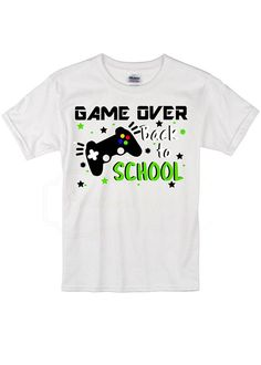 fac1cc4b Game Over Back to School Toddler and Youth Crew Neck T-Shirt Image design  made