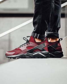 "new style 12477 ea63c Titolo Sneaker Boutique on Instagram  ""▻ Nike Air Huarache Run Ultra - Team  Red Gym Red-Gym Red-Black available now in-store and online  titoloshop  Zurich ..."