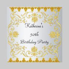 Most Popular Elegant White Gold  Invitation