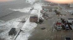 Atlantic City bears the brunt as hurricane Sandy hits land.