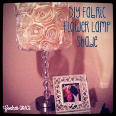 DIY Fabric Floral Lamp Shade