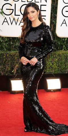Camila Alves - 2014 Golden Globes: Red Carpet Arrivals - Golden Globes 2014 - Celebrity - InStyle