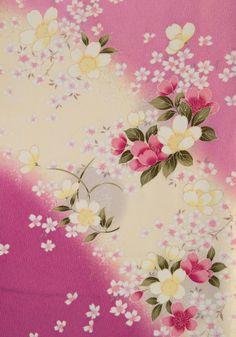 着物 No:739 商品名:ピンク カスミ桜