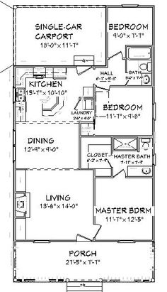 Cottage style house plan 2 beds baths 1000 sq ft for Mother in law cottage for rent