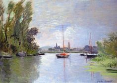 Argenteuil Seen from the Small Arm of the Seine, 1872 - Claude Monet - WikiPaintings.org