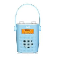 Jvc ra-d11-p #portable dab fm bathroom shower clock #radio blue mains or #battery,  View more on the LINK: http://www.zeppy.io/product/gb/2/302162237566/