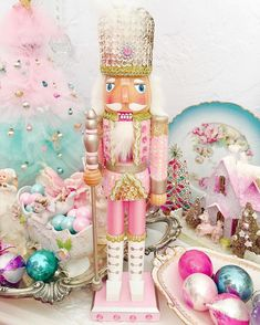 We're beginning to see your Christmas decor pictures, like this one by and we're loving it! Tag yours with to get in on the holiday fun. Our Pink Sequin Soldier Nutcracker was a favorite last year, and All Things Christmas, White Christmas, Holiday Fun, Christmas Holidays, Christmas Crafts, Christmas Ornaments, Holiday Decor, Holiday Ideas, Pink Christmas Decorations