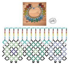 Foto Natali Khovalko Diy Necklace Patterns, Bead Loom Patterns, Beaded Jewelry Patterns, Beading Patterns, Beading Techniques, Beading Tutorials, Bead Loom Bracelets, Bead Jewellery, Handmade Beads