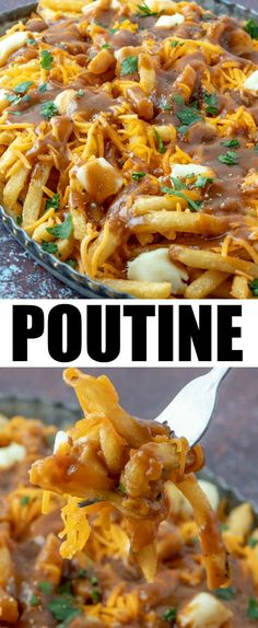 Simple, cheesy, gooey and addicting this traditntal Poutine recipe is a fun and addicting dinner, appetizer or munchie recipe that you have to try once in your life. poutine munchies appetizers frenchfries cheese recipes via 442971313348514429 Cheese Recipes, Potato Recipes, Cooking Recipes, Cooking French Fries, Best Appetizers, Vegetable Appetizers, Dinner Is Served, Game Day Food, Clean Eating Snacks