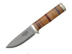 Fallkniven NL5cx   Blade material: Damascus Cowry X  Handle material: Leather