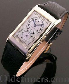 1930s 9ct gold vintage Rolex Prince Brancard watch (3822)