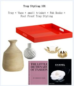 Tray Styling tips