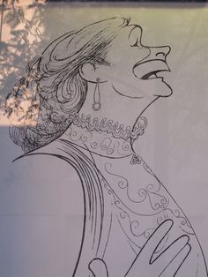 Colleen Dewhurst ~ by Al Hirschfeld Colleen Dewhurst, Kindred Spirits, Anne Of Green Gables, Black And White Portraits, Caricatures, Line Art, Cartoon, Embroidery, Stars