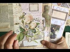 BONUS Day 64 of the 100 day project. I kept crafting so turned the camera on again! Thank you for watching! Vintage Paper Crafts, Bookbinding Tutorial, Creation Crafts, Art Journal Techniques, Handmade Journals, 100th Day, Halloween Cards, Junk Journal, Handmade Rugs