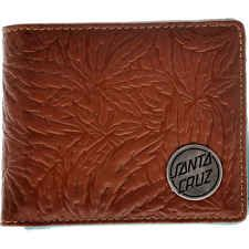 Santa Cruz Weed Leaf Mahogany Wallet #wallet #giftformen #skateboarding #gift #fashion #men #leather #weed