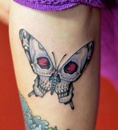 Love this Skull in a Butterfly tattoo