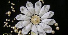 Flores em Croche em Aprender croche com flores margarida rainha por Edinir Croche Youtube Curso de Croche Facebool