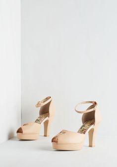 Beloved at First Sight Heel in Blush   Mod Retro Vintage Heels   ModCloth.com