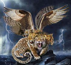 Leopard 4 Head, commission 2 by Amisgaudi on DeviantArt