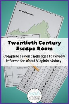 Are you looking for a fun way to review Virginia Studies SOL VS.9? This Virginia Studies 20th Century Escape Room is the perfect review activity to use at the end of a unit or before state testing! #vestals21stcenturyclassroom #virginiastudies #virginiastudies4thgrade