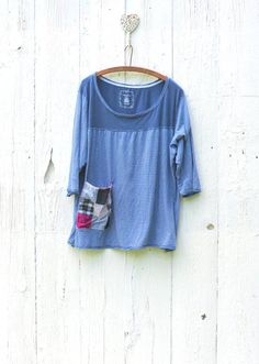 oversized womens shirt  upcycled tunic top  ladies by wearlovenow