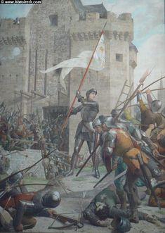 Jeanne d'Arc in Armor before Orléans, by Jules Eugène LENEPVEU, 1874. The Panthéon, Paris