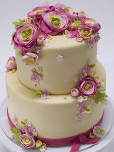 beautiful pink/lime cake