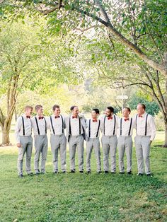 Best buds and suspenders: http://www.stylemepretty.com/little-black-book-blog/2017/03/17/sweet-southern-summer-wedding/ Photography: Nancy Ray - http://nancyrayphotography.com/