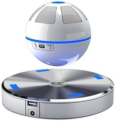 Floating bluetooth speaker! This fun floating speaker plays 360 degrees of sound, music and entertainment and connects to your bluetooth device! Play music from your phone, computer, tablet and more.  (Fun Tech Gadgets)