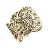Style Bracelet, Gold-Tone Textured Stretch Bracelet