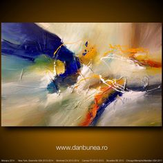 "Large abstract painting by Dan Bunea: ""Someday"", 80x120cm or 32x48in, acrylics on canvas, for sale on Etsy, $800.00"