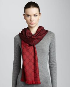 Gucci GG Print Scarf Amaranth in Red (one size) - Lyst