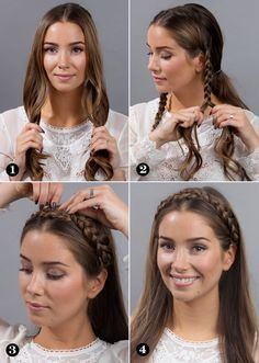 10 Mexican hairstyles that are really easy and modern - - 10 peinados mexicanos que son realmente fáciles y modernos hairstyles-mexican-modern-braids-simple Medium Hair Styles, Short Hair Styles, Hair Medium, Hair Styles Steps, Easy Hair Styles Quick, Braid Hair Styles, Medium Hair Braids, Loose Braids, Mexican Hairstyles