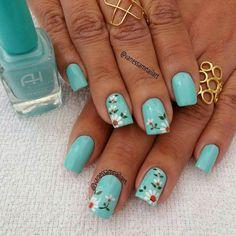Turquesa uñas nails
