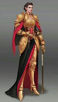 f Paladin ArtStation - Commanders, wonmi choi 3d Fantasy, Fantasy Armor, Medieval Fantasy, Fantasy Queen, Dnd Characters, Fantasy Characters, Female Characters, Female Armor, Female Knight