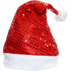 Christmas Santa sequin hat with pom-pom. Perfect to wear during the holidays. Can be worn with any outfit to add a festive touch or with a Santa suit. Christmas Hat, Christmas Costumes, Santa Suits, Pom Pom Hat, Santa Hat, Costume Accessories, Sequins, Hats, Festive
