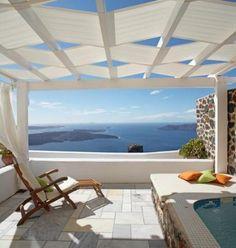 at Iliovasilema Suites - Santorini. Dream Vacation Spots, Dream Vacations, Oh The Places You'll Go, Places To Travel, Small Places, Santorini House, Santorini Caldera, Mykonos, Old Lahaina Luau
