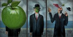This just in. Ummm, the classic Rene Magritte painting was actually part of an action series...LOL.