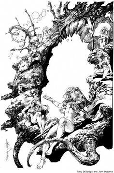 Art by Tony DeZuniga and John Buscema