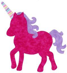Unicorn iron on fabric applique DIY. $4.25, via Etsy.
