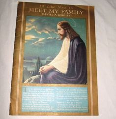 MEET MY FAMILY Picture Book for Children Daniel Lord Jesuit 1941 SPECIAL Fine