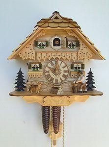 Chalet-Kuckucksuhren Kuckucksuhr 1-Tag-Uhrwerk Chalet-Stil 26cm von Anton Schneider