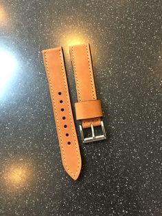 Custom Horween Leather Watch Strap from  922Leather.com
